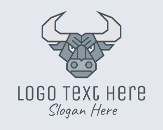 Bullfight - Angry Strong Buffalo logo design