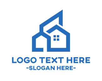 Concept - Blue Line Art Home logo design
