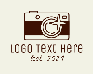 Photo Booth - Brown Photographer Camera logo design