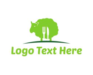 Free Range - Green Lamb logo design