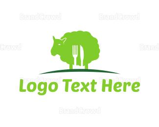 Lamb - Green Lamb logo design