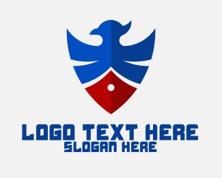 Patriotic - Patriotic Eagle Shield logo design