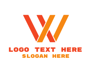 Alphabet - Orange Letter W logo design