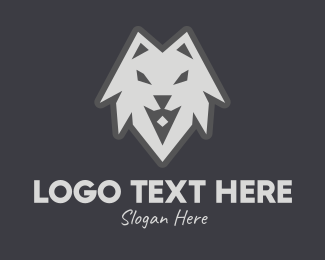 Wolf Pack - Wild Grey Wolf logo design