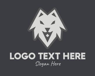 Full Moon - Wild Grey Wolf logo design