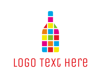 Soda - Colorful Bottle logo design