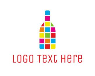 Bottle - Colorful Bottle logo design