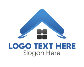 Residential Construction - Blue Roof logo design