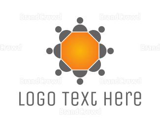 Table - Hexagonal Conferewce Table logo design