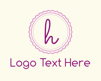 Stamp - Cute H Emblem logo design