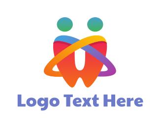 Couple - Rainbow Tooth Couple  logo design