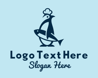 Seafood - Penguin Seafood  Mascot  logo design