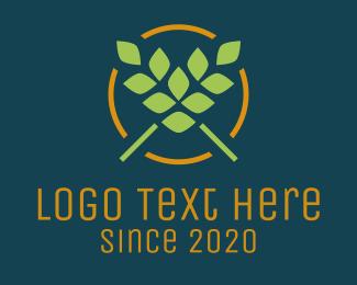Vegan - Green Wheat Vegan Restaurant logo design