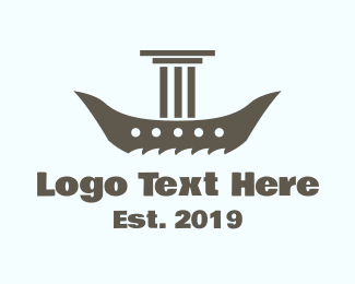 Viking - Pillar Boat logo design