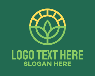 Farm Plant Sun Logo Maker
