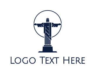 Brazil - Blue Christ  logo design