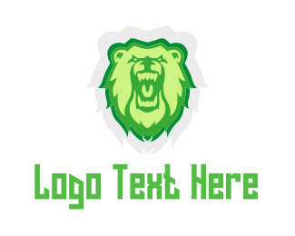 Furious - Wild Green Bear logo design