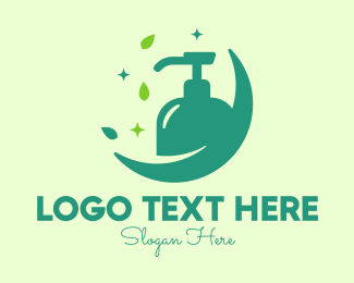 Toiletry - Sparkling Natural Liquid Soap logo design