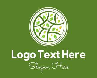 Tree - Decorative Plant Emblem logo design