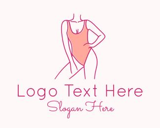 Model - Woman Swimsuit Model logo design