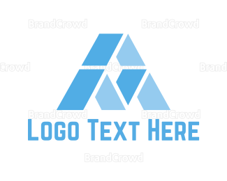 Apex - Blue Letter A logo design