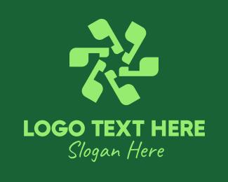 Punctuation - Green Apostrophe Flower logo design