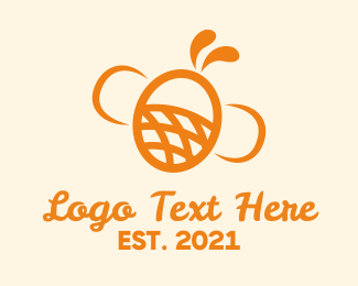 Insect - Orange Bee Insect logo design