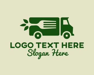 Vegan Food Truck Logo