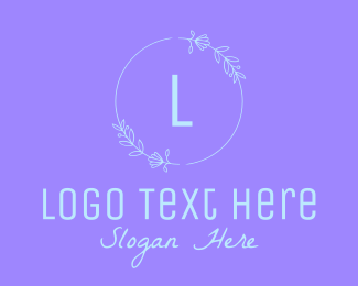 Delicate - Pastel Flower Wreath Letter logo design