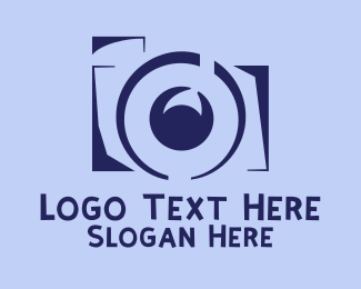 Photography - Violet Film Camera logo design