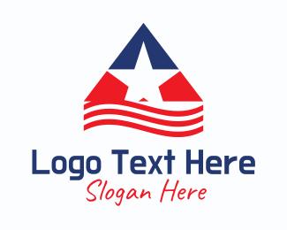 Republican - American Star Pyramid logo design