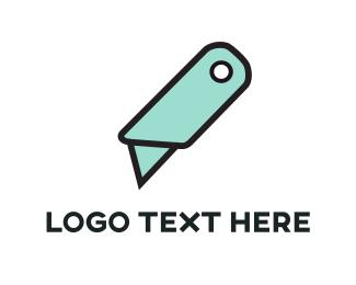 Cut - Mint Cutter logo design