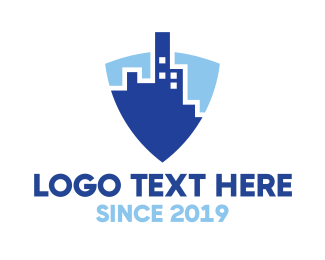Law Enforcer - Blue Shield City logo design
