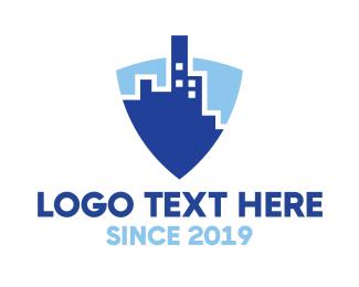 Shield - Blue Shield City logo design