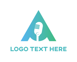 Record - Mint Microphone  logo design