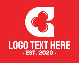 Poker - Casino Letter C logo design