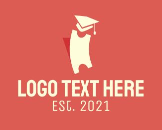 Phd - Graduation Ticket logo design