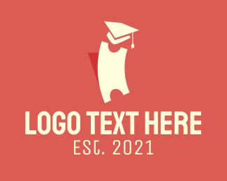 Phd - Graduation Toga Ticket logo design