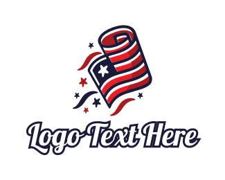 Roll - Patriot Flag logo design