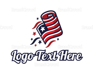 American Flag - Patriot Flag logo design