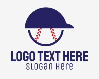 Player - Baseball Player Helmet logo design