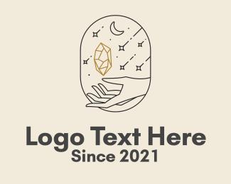 Spiritual - Aesthetic Diamond Hand  logo design