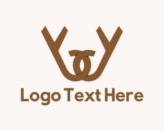 Antlers - Antler Letter W logo design