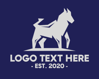 Hound - Grey Wild Hound logo design
