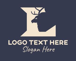 Photograph - Deer Silhouette Letter L logo design