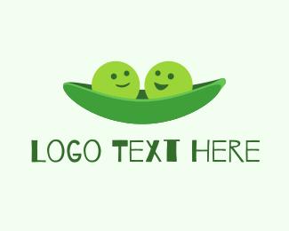 Eating - Two Peas Pod logo design