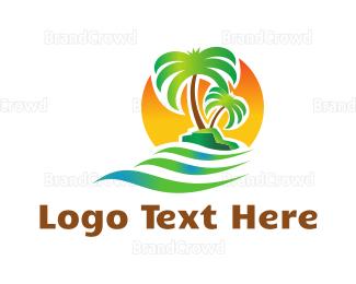 Dubai - Sunrise Island logo design
