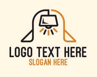 Bedtime - Lamp Arch logo design