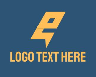 Electric Letter E Logo