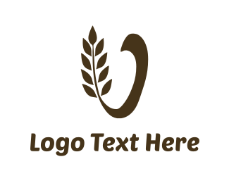 Flour - Brown Wheat  logo design